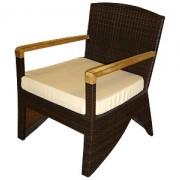 кресло-1083 с подушкой,тик (66*70*85)
